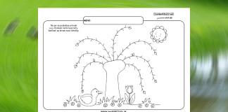 Grafomotorika. Kreslíme listy na strom.