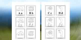 Písmenká - kartičky - prváci - predškoláci
