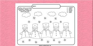 Snehuliaci - omaľovánka