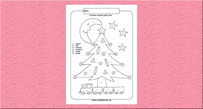 Vianočný stromček. Omaľovánka