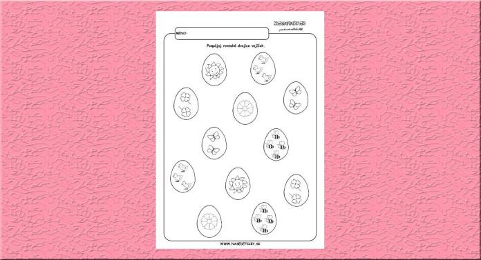 Hľadáme rovnaké dvojice - veľkonočné vajíčka