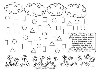 Dážď. Geometrické tvary.