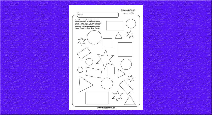 Geometrické tvary - farby.