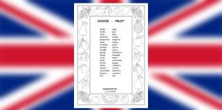 Fruit vocabulary - worksheet