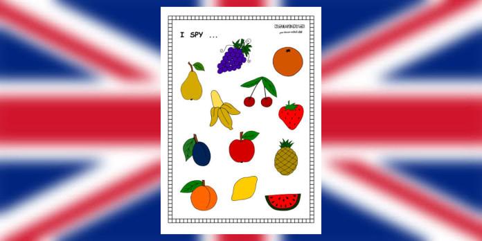 I spy - fruit - worksheet