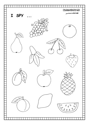 I spy fruit - worksheet