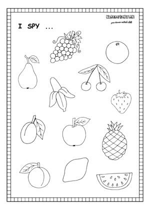 I spy fruit - worksheet