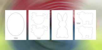 Jarné predlohy - vajíčko, zajko, sliepka, ovečka