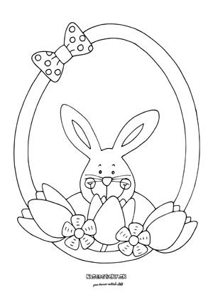 Jarná ozdoba pre deti na vyfarbenie