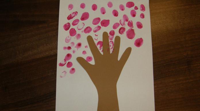 Valentín - strom z ruky