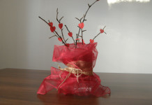 Ozdoba na valentínsky stôl
