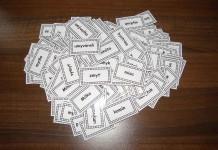 Vybrané slová kartičky