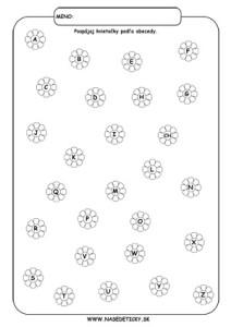 Abeceda - pracovný list pre druhákov