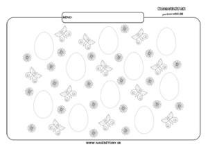 Grafomotorika. Kreslíme vajíčka