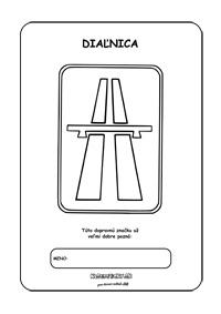Dopravné značky - omaľovánky - Diaľnica