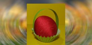 Veľkonočné ozdoby - vajíčko v košíčku