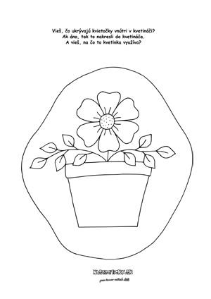 Pracovný list - čo ukrýva kvetináč