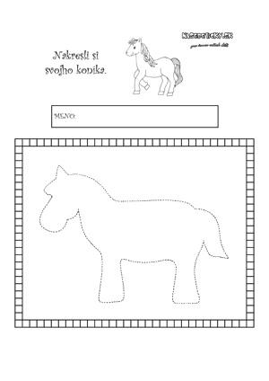 Koník - vybodkovaný na obtiahnutie