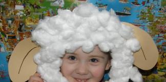 Ovečka - maska pre deti