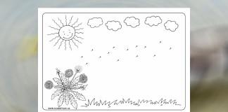 Púpavové semienka - pracovný list