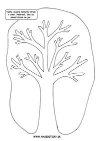 Pracovný list - stromy na jar