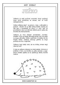 Ježko - encyklopédia zvierat