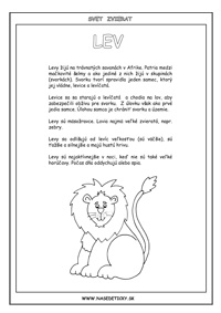 Lev - encyklopédia zvierat