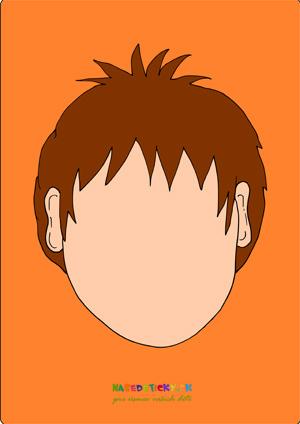 Tvár chlapec - aktivity pre najmenších
