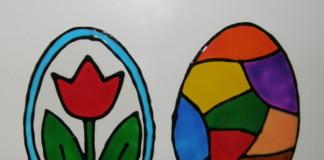 Tulipán a vajíčko - obrázky na okno