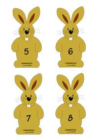 Zajačik s mrkvičkou - počítanie do 10
