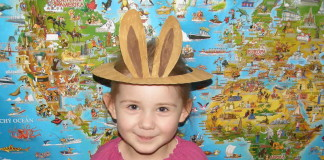 Zajačik - čelenka pre deti s uškami