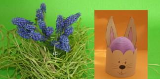 Zajačik a vajíčko - veľkonočná ozdoba pre deti
