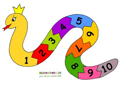 Had s číslami pre deti
