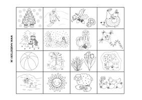 Ročné obdobia - pracovný list pre deti