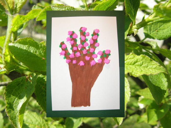 Jarné aktivity pre deti - rozkvitnutý strom