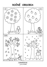 Ročné obdobia - pracovný list