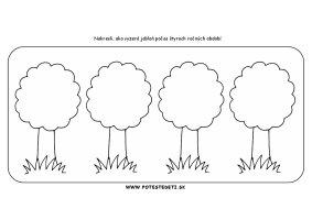 Ročné obdobia - stromy - pracovný list