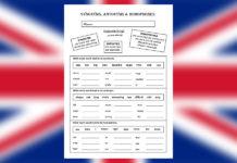 Worksheet - synonyms, antonymes and homophones