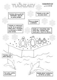 Tučniak - pracovný list pre deti