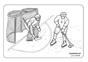 Hokejisti - omaľovánka pre deti