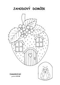 Jahodový domček z papiera pre deti