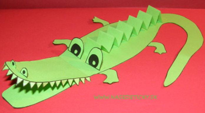 Krokodíl z papiera - pre deti