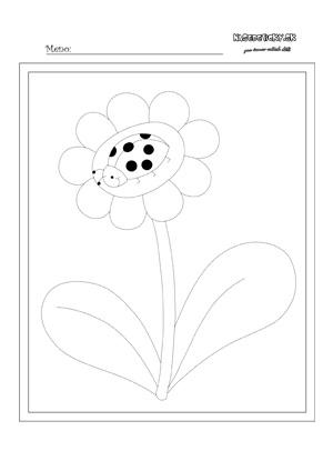 Kvet s lienkou - obťahujeme vybodkovaný obrázok