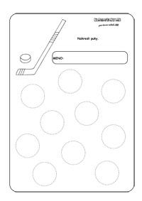 hokej - pracovný list pre deti