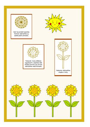 Ako nakresliť slnečnicu