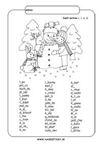 Pracovné listy zo slovenského jazyka pre druhákov