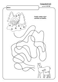 Srnky hľadajú cestičku - pracovný list pre deti