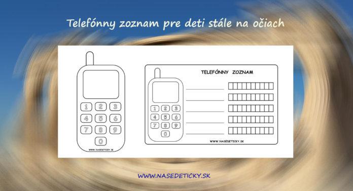 Telefónny zoznam pre deti