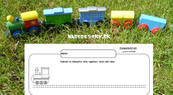 Vláčik - pracovný list pre deti