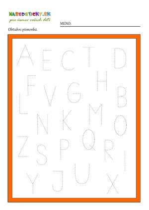 Písmenká - pracovný list